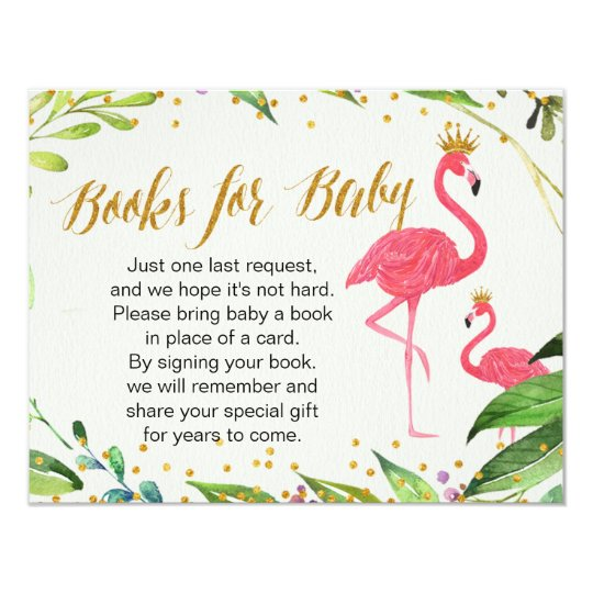 Flamingo - Books for Baby Insert Card