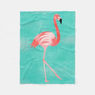 Flamingo Burd Fleece Blanket