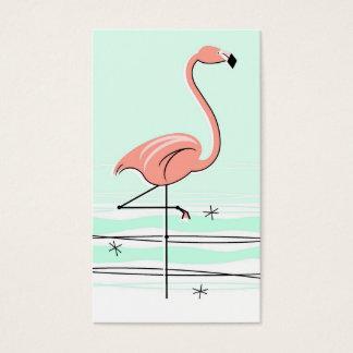 Flamingo business card green