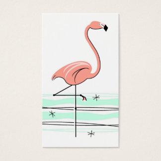 Flamingo business card white