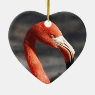 Flamingo Ceramic Heart Decoration
