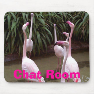 Flamingo Chat Room Mouse Mats
