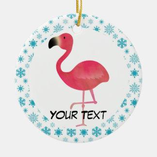 Flamingo Christmas Ornament Gift