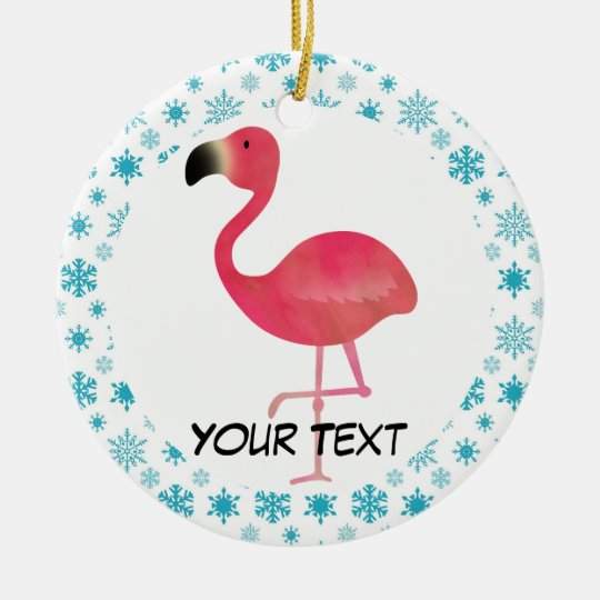 Flamingo Christmas Ornament Gift