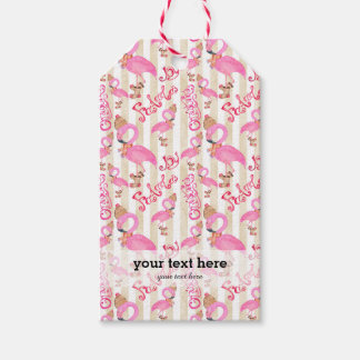 Flamingo Christmas pattern Gift Tags