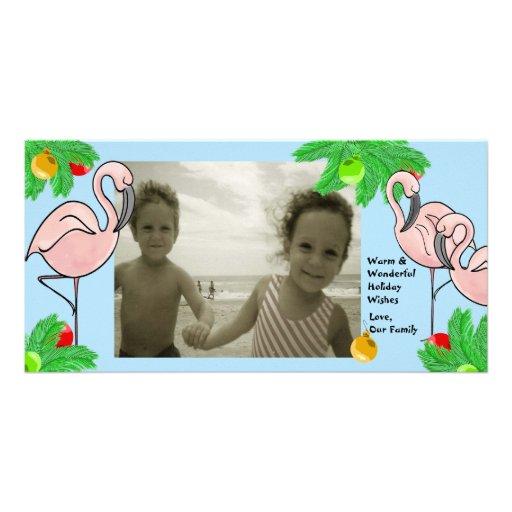 Flamingo Christmas/ Photo Greeting Card