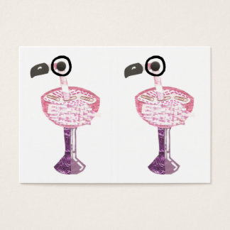 Flamingo Cocktail Business Cards