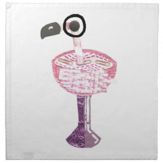 Flamingo Cocktail Cloth Napkins