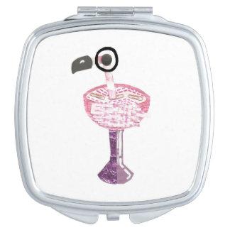 Flamingo Cocktail Compact Mirror