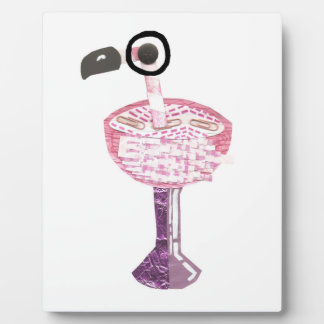 Flamingo Cocktail Easel Plaque