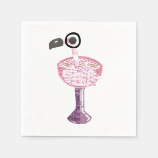 Flamingo Cocktail Napkins Disposable Serviette