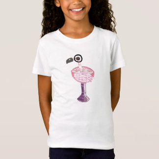 Flamingo Cocktail No Background Girl's T-Shirt