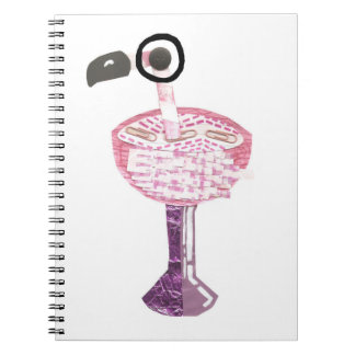 Flamingo Cocktail No Background Notebook