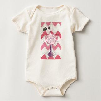 Flamingo Cocktail Organic Babygro Baby Bodysuit