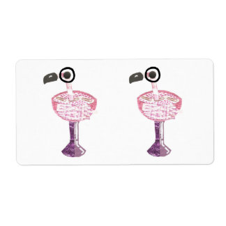 Flamingo Cocktail Shipping Labels