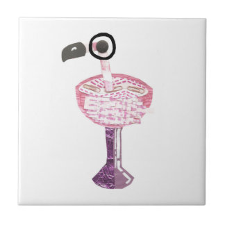 Flamingo Cocktail Tile