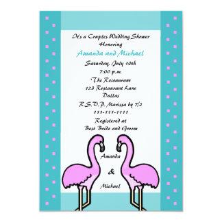 Flamingo Couple Couples Shower Wedding Invitations