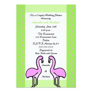 Flamingo Couple Couples Wedding Shower Invitation
