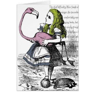 Flamingo Croquet Card