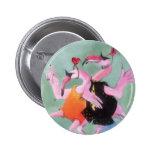Flamingo Dance 6 Cm Round Badge