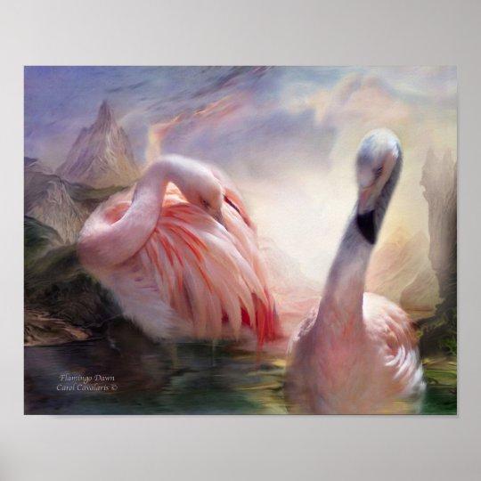 Flamingo Dawn Art Poster/Print Poster