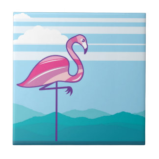 Flamingo Design Tile