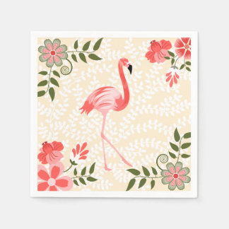 Flamingo Disposable Serviettes