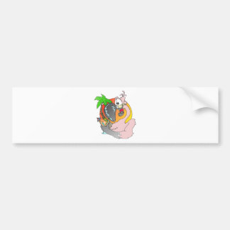 Flamingo Drink Bumper Sticker