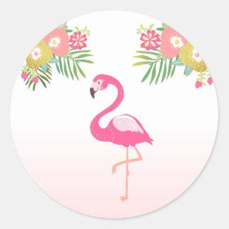 Flamingo Envelope seal sticker Tropical Label
