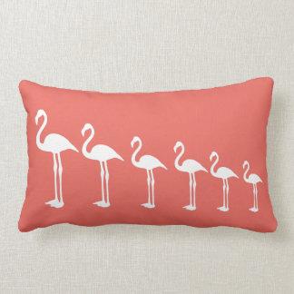 Flamingo Evolution Coral Throw Pillow