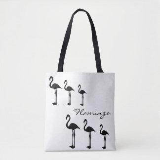 Flamingo Evolution Funky Tote Bag