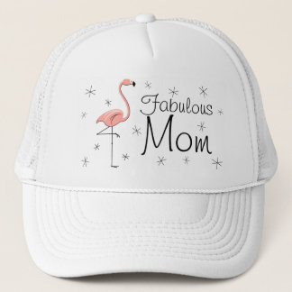 Flamingo 'Fabulous Mom' Trucker hat
