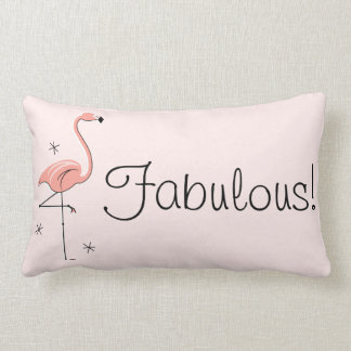 Flamingo 'Fabulous!' multi back lumbar Lumbar Pillow