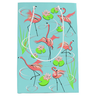 Flamingo Fandango gift bag medium