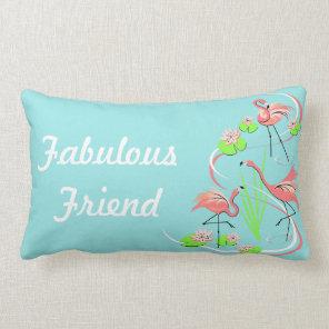 Flamingo Fandango Trio Fabulous Friend lumbar Lumbar Cushion