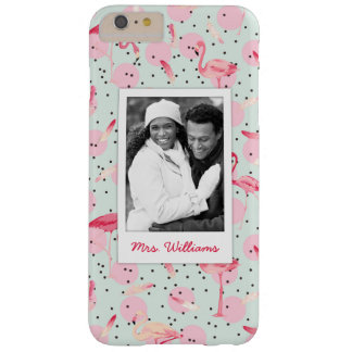 Flamingo Feathers | Add Your Photo & Name Barely There iPhone 6 Plus Case