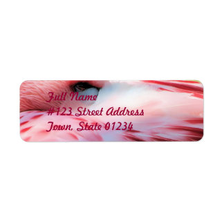 Flamingo Feathers Mailing Label