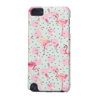 Flamingo Feathers On Polka Dots iPod Touch (5th Generation) Cover