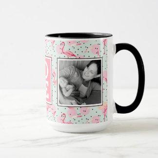 Flamingo Feathers On Polka Dots | LOVE with Photos Mug