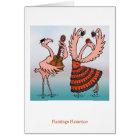Flamingo Flamenco Card