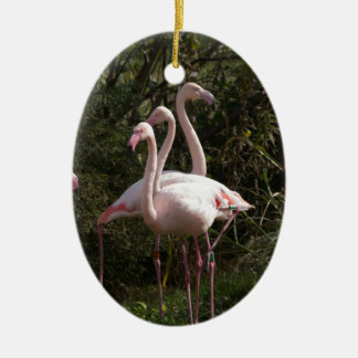 Flamingo Flock Christmas Ornament