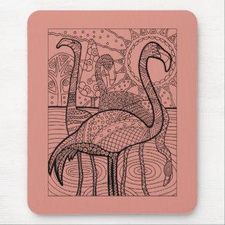 Flamingo Flock Mouse Mat