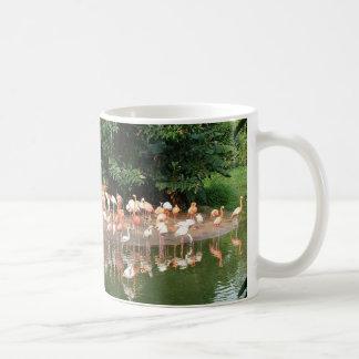 flamingo flock coffee mug