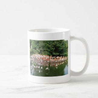 flamingo flock mug