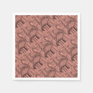 Flamingo Flock Paper Napkins