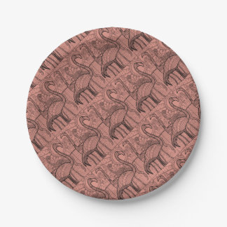 Flamingo Flock Paper Plate
