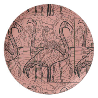 Flamingo Flock Plate