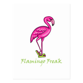 Flamingo Freak Postcard