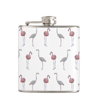 Flamingo Frenzy Hip Flask (choose colour)