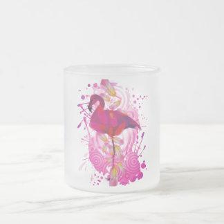Flamingo Frosted Glass Coffee Mug